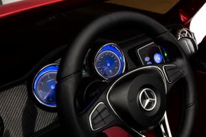 Masinuta electrica 4 x 4 Premier Mercedes X-Class, 12V, ecran LCD, MP4, roti cauciuc EVA, scaun piele ecologica, rosu [15]