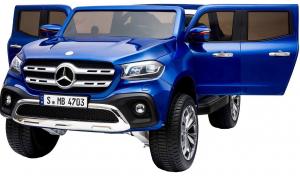 Masinuta electrica 4 x 4 Premier Mercedes X-Class, 12V, roti cauciuc EVA, scaun piele ecologica, albastru [1]