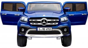 Masinuta electrica 4 x 4 Premier Mercedes X-Class, 12V, roti cauciuc EVA, scaun piele ecologica, albastru [2]