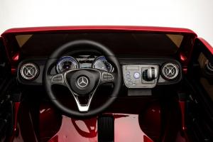 Masinuta electrica 4 x 4 Premier Mercedes X-Class, 12V, ecran LCD, MP4, roti cauciuc EVA, scaun piele ecologica, rosu [12]