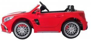 Masinuta electrica Premier Mercedes SL65 AMG, 12V, roti cauciuc EVA, scaun piele ecologica, rosu [2]