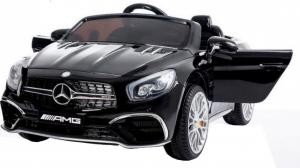 Masinuta electrica Premier Mercedes SL65 AMG, 12V, roti cauciuc EVA, scaun piele ecologica [0]