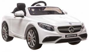 Masinuta electrica Premier Mercedes SL65 AMG, 12V, roti cauciuc EVA, scaun piele ecologica, alb [0]