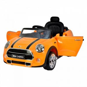 Masinuta electrica Mini Cooper Cabrio cu portiere care se deschid si slow start0