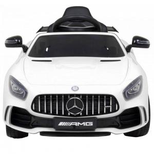 Masinuta electrica Premier Mercedes GT-R, 12V, roti cauciuc EVA, scaun piele ecologica, alb [10]