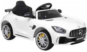 Masinuta electrica Premier Mercedes GT-R, 12V, roti cauciuc EVA, scaun piele ecologica, alb [6]