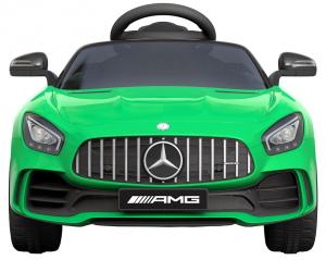 Masinuta electrica Premier Mercedes GT-R, 12V, roti cauciuc EVA, scaun piele ecologica, verde2