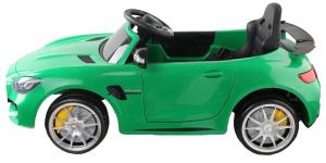 Masinuta electrica Premier Mercedes GT-R, 12V, roti cauciuc EVA, scaun piele ecologica, verde6
