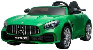 Masinuta electrica Premier Mercedes GT-R, 12V, roti cauciuc EVA, scaun piele ecologica, verde9