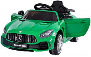 Masinuta electrica Premier Mercedes GT-R, 12V, roti cauciuc EVA, scaun piele ecologica, verde0