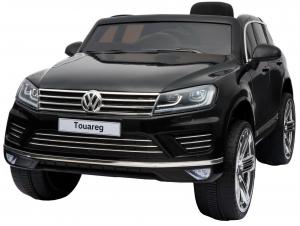 Masinuta electrica Premier Volkswagen Touareg, 12V, roti cauciuc EVA, scaun piele ecologica, negru6