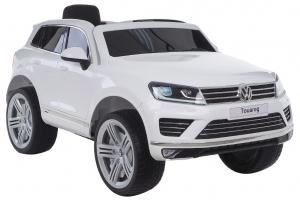 Masinuta electrica Premier Volkswagen Touareg, 12V, roti cauciuc EVA, scaun piele ecologica, alb [0]