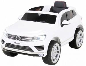 Masinuta electrica Premier Volkswagen Touareg, 12V, roti cauciuc EVA, scaun piele ecologica, alb [2]