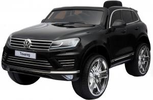 Masinuta electrica Premier Volkswagen Touareg, 12V, roti cauciuc EVA, scaun piele ecologica, negru0