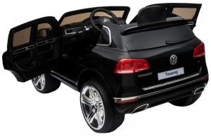 Masinuta electrica Premier Volkswagen Touareg, 12V, roti cauciuc EVA, scaun piele ecologica, negru5