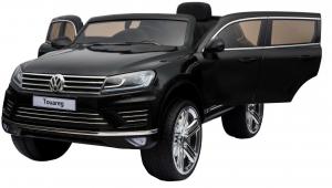 Masinuta electrica Premier Volkswagen Touareg, 12V, roti cauciuc EVA, scaun piele ecologica, negru3