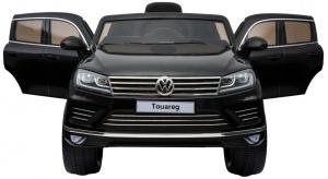 Masinuta electrica Premier Volkswagen Touareg, 12V, roti cauciuc EVA, scaun piele ecologica, negru2