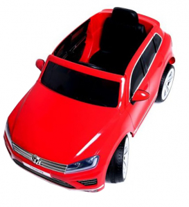 Masinuta electrica Premier Volkswagen Touareg, 12V, roti cauciuc EVA, scaun piele ecologica, rosu3
