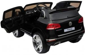 Masinuta electrica Premier Volkswagen Touareg, 12V, roti cauciuc EVA, scaun piele ecologica, negru8