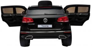 Masinuta electrica Premier Volkswagen Touareg, 12V, roti cauciuc EVA, scaun piele ecologica, negru4