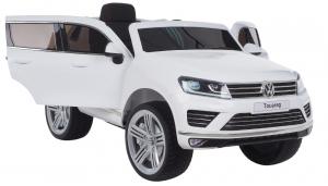 Masinuta electrica Premier Volkswagen Touareg, 12V, roti cauciuc EVA, scaun piele ecologica, alb [1]