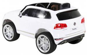 Masinuta electrica Premier Volkswagen Touareg, 12V, roti cauciuc EVA, scaun piele ecologica, alb [4]