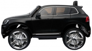 Masinuta electrica Premier Volkswagen Touareg, 12V, roti cauciuc EVA, scaun piele ecologica, negru1