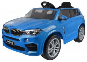Masinuta electrica Premier BMW X5M, 12V, roti cauciuc EVA, scaun piele ecologica, albastru10