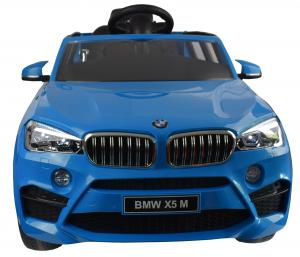 Masinuta electrica Premier BMW X5M, 12V, roti cauciuc EVA, scaun piele ecologica, albastru7