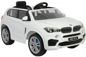 Masinuta electrica SUV Premier BMW X5M, 12V, roti cauciuc EVA, scaun piele ecologica, alb [5]