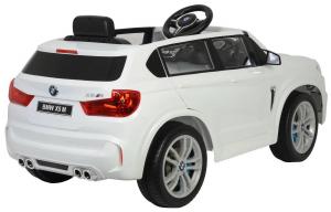 Masinuta electrica SUV Premier BMW X5M, 12V, roti cauciuc EVA, scaun piele ecologica, alb [4]