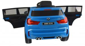 Masinuta electrica Premier BMW X5M, 12V, roti cauciuc EVA, scaun piele ecologica, albastru13