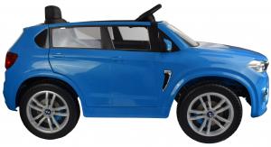 Masinuta electrica Premier BMW X5M, 12V, roti cauciuc EVA, scaun piele ecologica, albastru9