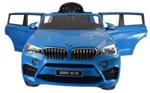 Masinuta electrica Premier BMW X5M, 12V, roti cauciuc EVA, scaun piele ecologica, albastru1