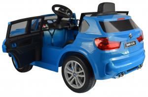 Masinuta electrica Premier BMW X5M, 12V, roti cauciuc EVA, scaun piele ecologica, albastru14