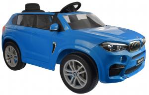 Masinuta electrica Premier BMW X5M, 12V, roti cauciuc EVA, scaun piele ecologica, albastru8