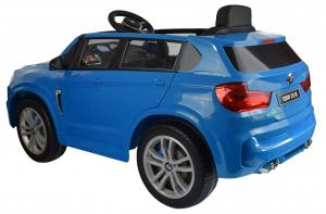 Masinuta electrica Premier BMW X5M, 12V, roti cauciuc EVA, scaun piele ecologica, albastru4