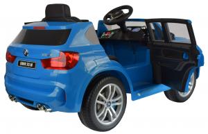 Masinuta electrica Premier BMW X5M, 12V, roti cauciuc EVA, scaun piele ecologica, albastru12