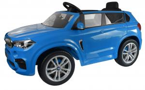 Masinuta electrica Premier BMW X5M, 12V, roti cauciuc EVA, scaun piele ecologica, albastru6
