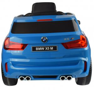Masinuta electrica Premier BMW X5M, 12V, roti cauciuc EVA, scaun piele ecologica, albastru2