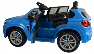 Masinuta electrica Premier BMW X5M, 12V, roti cauciuc EVA, scaun piele ecologica, albastru15