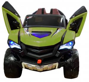 Masinuta electrica 4x4 Premier D-Max, 12V, roti cauciuc EVA, scaun piele ecologica, verde [2]
