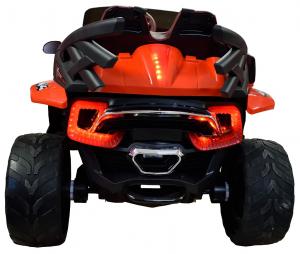 Masinuta electrica 4x4 Premier D-Max, 12V, roti cauciuc EVA, scaun piele ecologica, rosie [2]