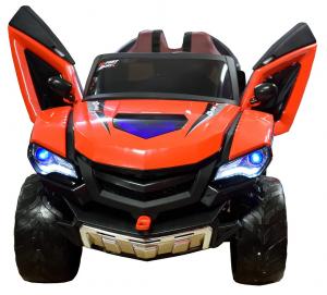 Masinuta electrica 4x4 Premier D-Max, 12V, roti cauciuc EVA, scaun piele ecologica, rosie [3]