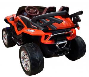 Masinuta electrica 4x4 Premier D-Max, 12V, roti cauciuc EVA, scaun piele ecologica, rosie [5]