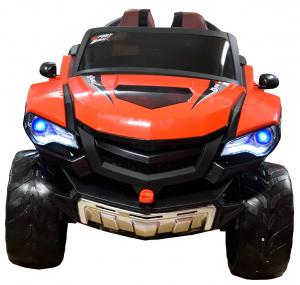 Masinuta electrica 4x4 Premier D-Max, 12V, roti cauciuc EVA, scaun piele ecologica, rosie [7]