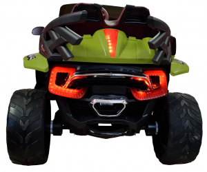 Masinuta electrica 4x4 Premier D-Max, 12V, roti cauciuc EVA, scaun piele ecologica, verde [9]