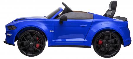 Masinuta electrica Premier Ford Mustang, 12V, roti cauciuc EVA, scaun piele ecologica, albastru [5]