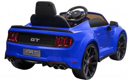 Masinuta electrica Premier Ford Mustang, 12V, roti cauciuc EVA, scaun piele ecologica, albastru [9]