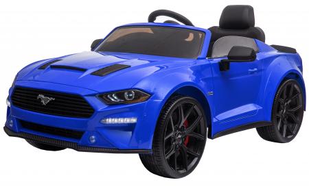 Masinuta electrica Premier Ford Mustang, 12V, roti cauciuc EVA, scaun piele ecologica, albastru [4]